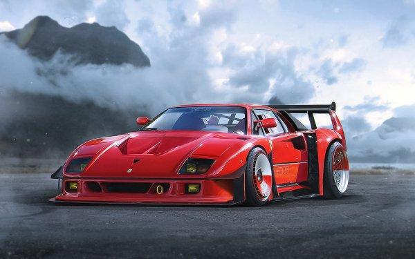 Vehicles Ferrari F40 Ferrari Supercar Sport Car Red Car Car HD Wallpaper | Background Image
