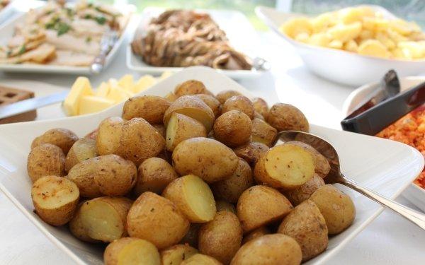 Alimento Patata Plate Comida Diner Fondo de pantalla HD | Fondo de Escritorio