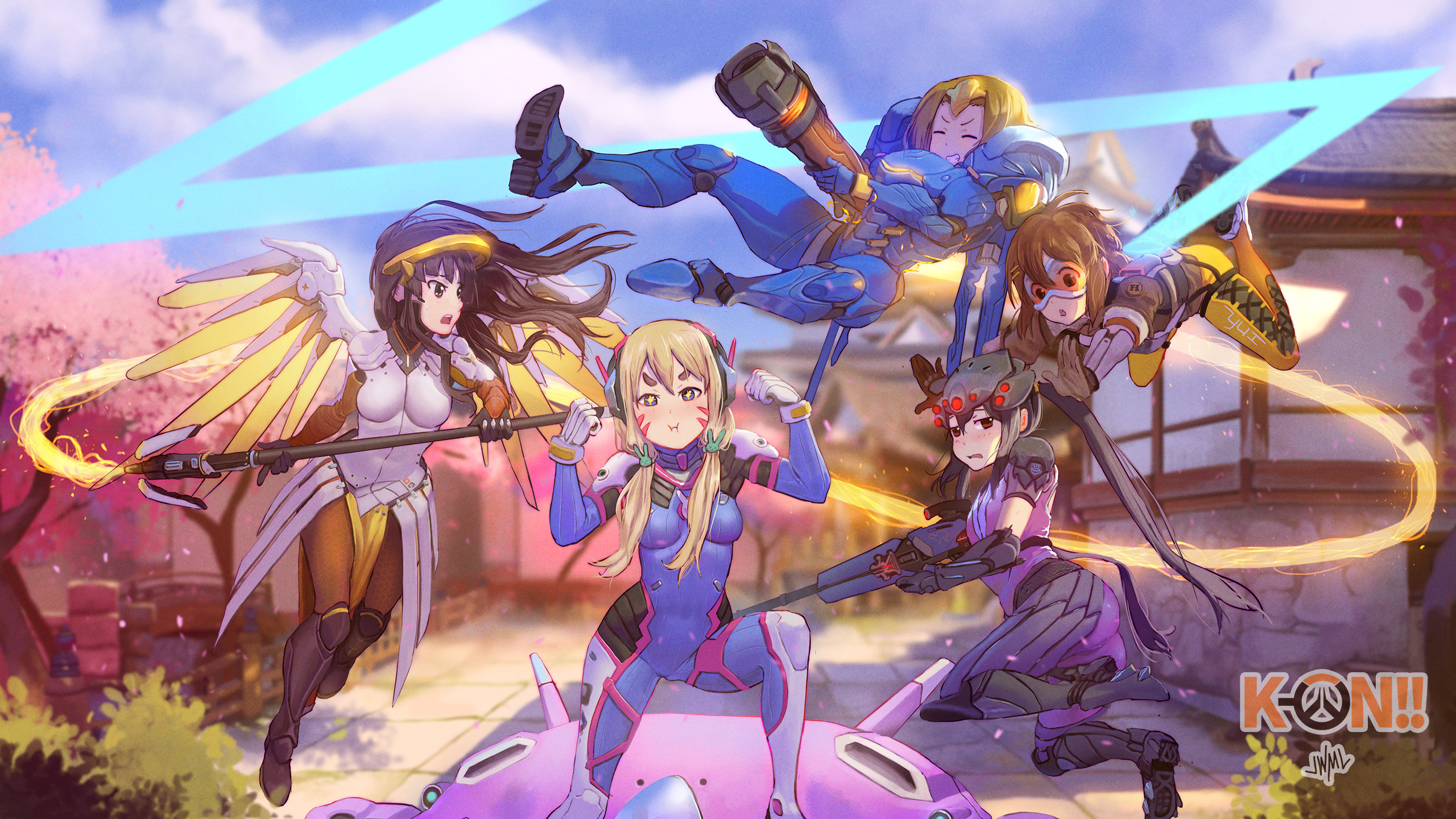 K-ON! x Overwatch Full HD Wallpaper and Background ...