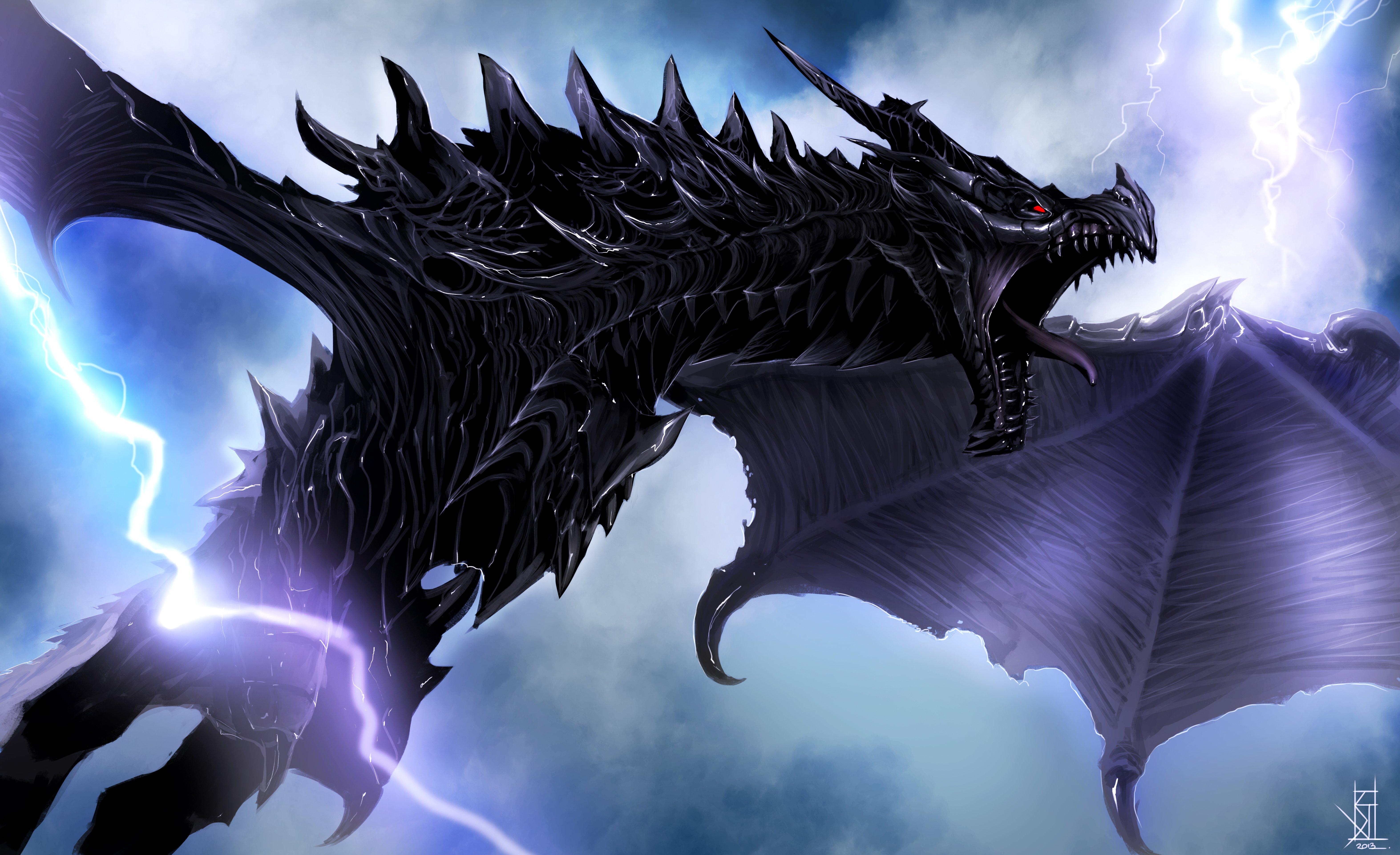 Flying Dragon 5k Retina Ultra Fondo De Pantalla Hd Fondo