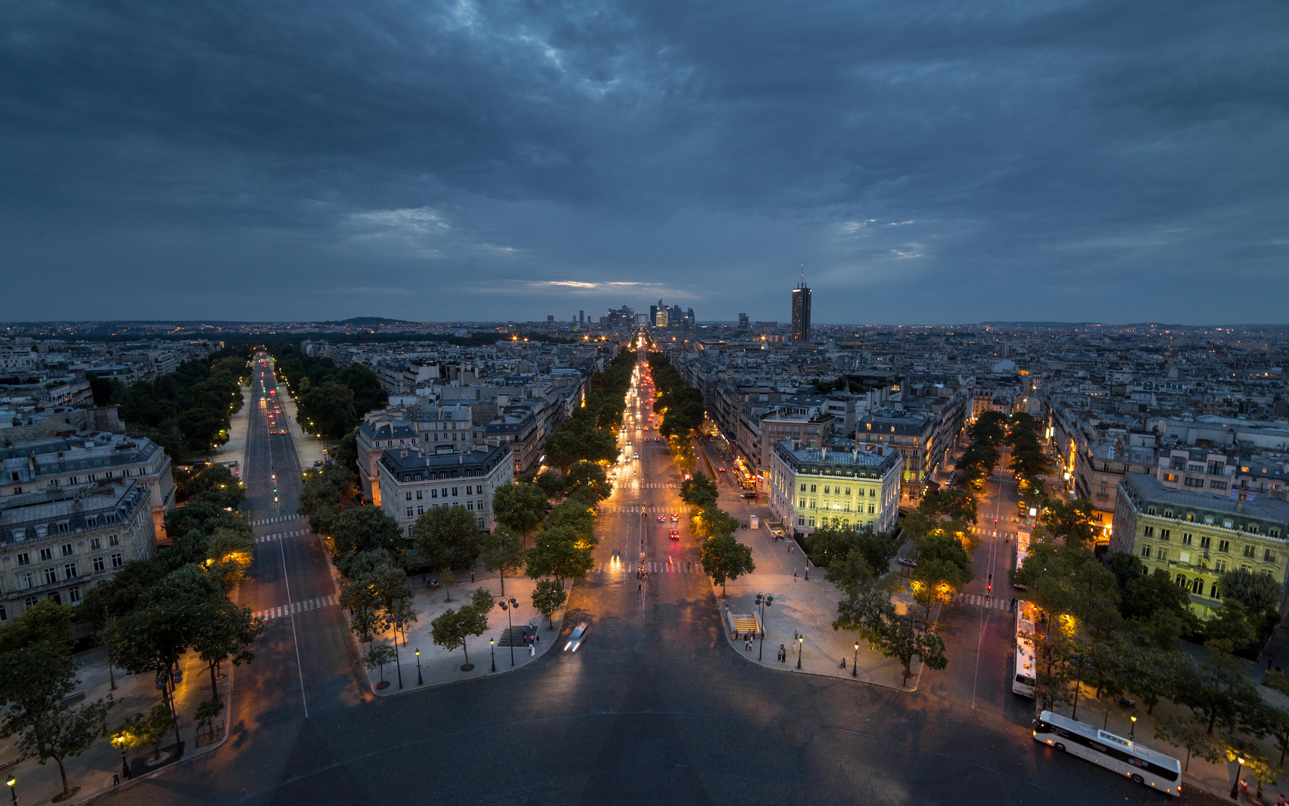 Streets Of Paris At Night 5k Retina Ultra Hd Wallpaper Background Image 5202x3251 Id 711998 Wallpaper Abyss