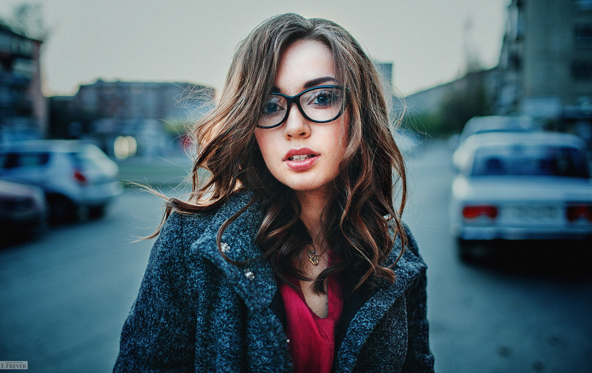 Women - Model  Woman Girl Brunette Glasses Wallpaper