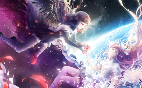 Anime Puella Magi Madoka Magica Homura Akemi Madoka Kaname Homura Akuma Ultimate Madoka HD Wallpaper | Background Image