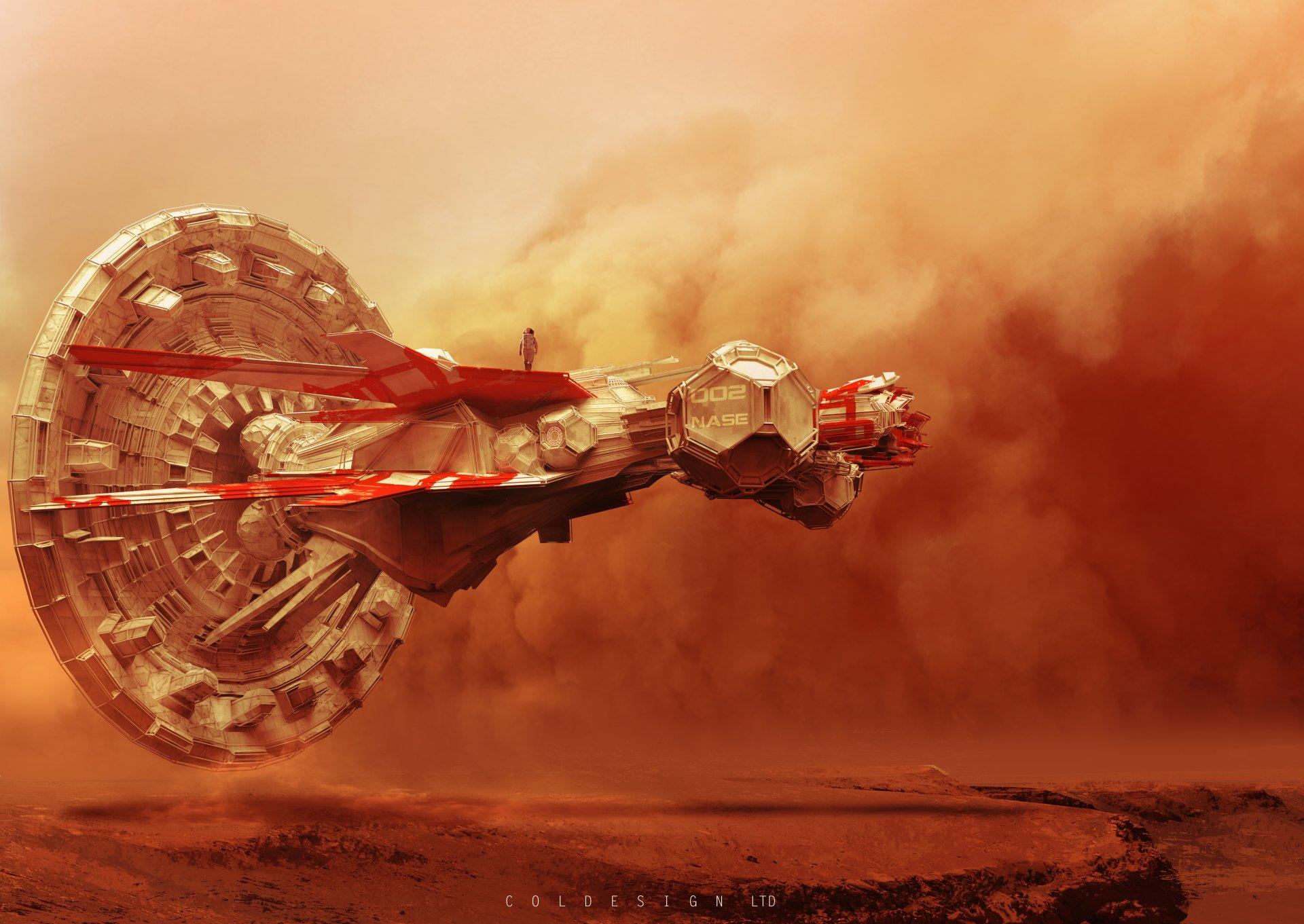 Sci Fi - Vehicle  Desert Storm Sand Wallpaper