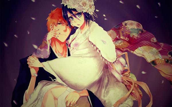 Anime Bleach Ichigo Kurosaki Rukia Kuchiki HD Wallpaper   Background Image