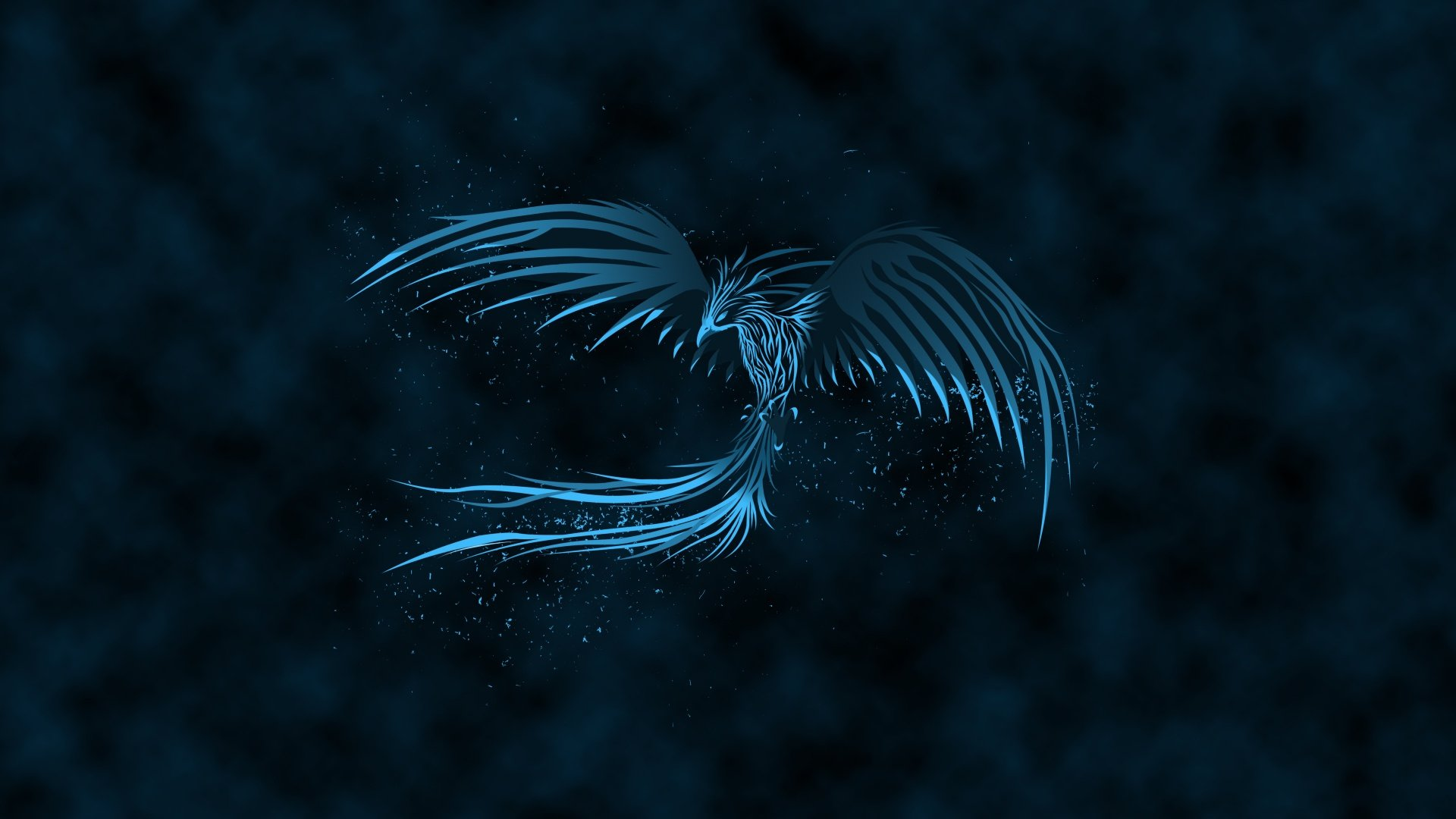 Blue Phoenix Full HD Wallpaper And Background Image