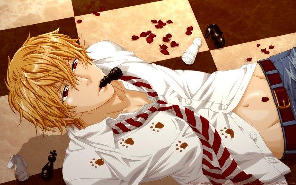 Anime Wolf Girl and Black Prince Kyouya Sata HD Wallpaper   Background Image