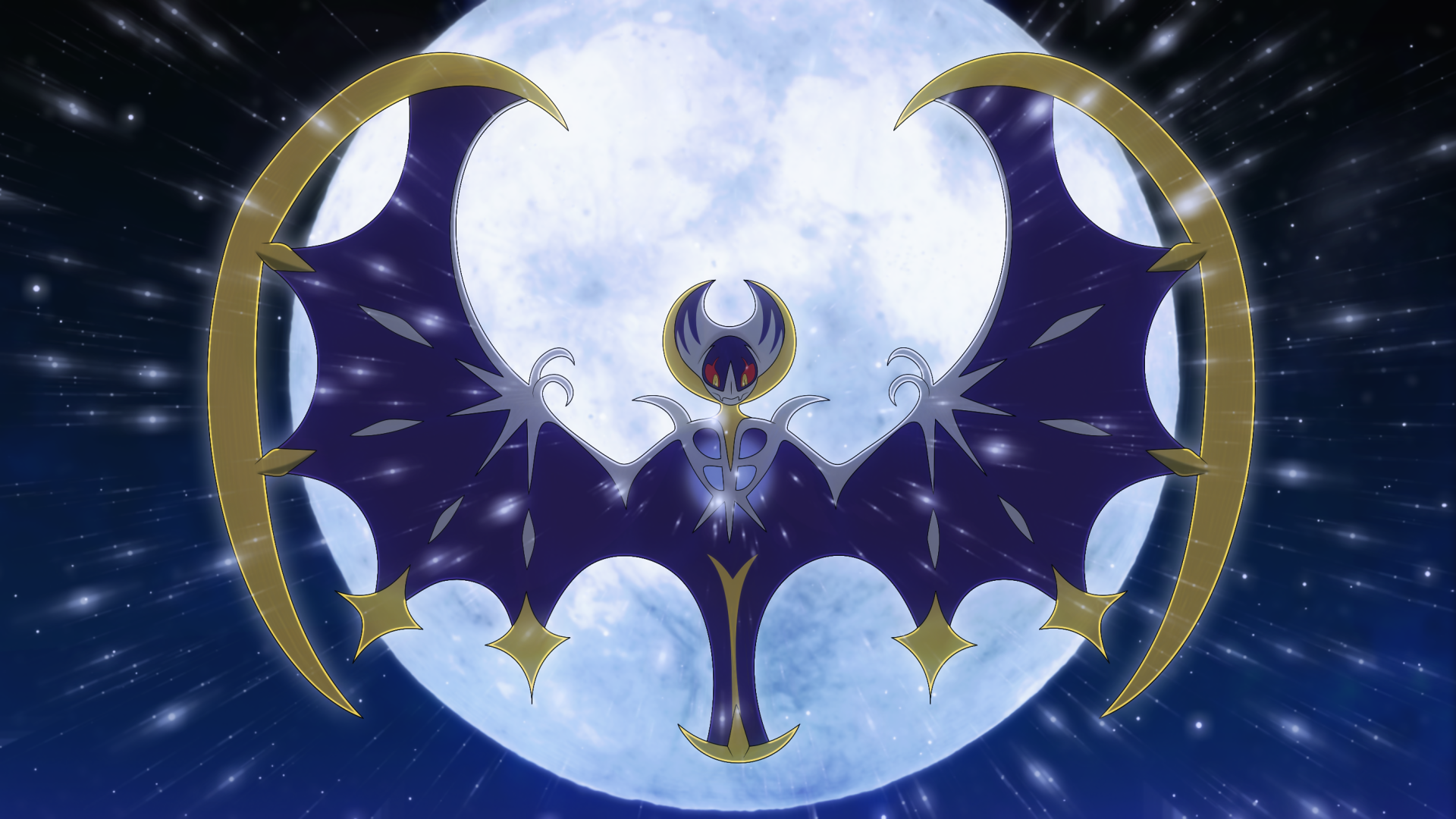Video Game - Pokémon Sun and Moon  Lunala (Pokémon) Pokémon Pokémon Moon Wallpaper