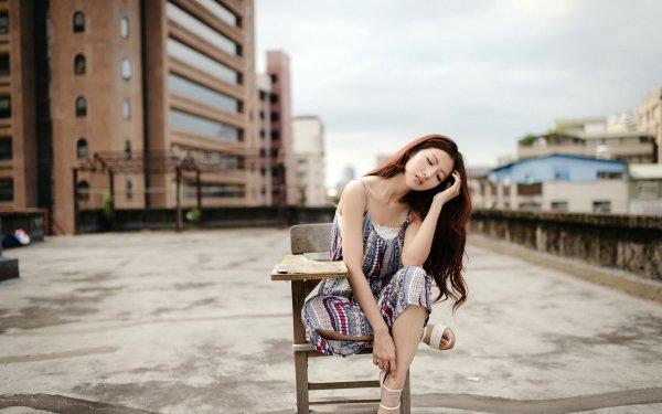 Frauen Asiatinnen Brunette Mädchen Woman Stimmung Outdoor HD Wallpaper | Hintergrund