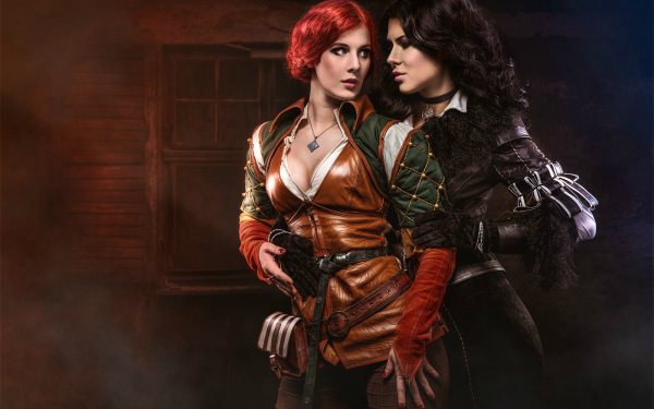 Women Cosplay The Witcher 3: Wild Hunt Triss Merigold Yennefer of Vengerberg HD Wallpaper | Background Image