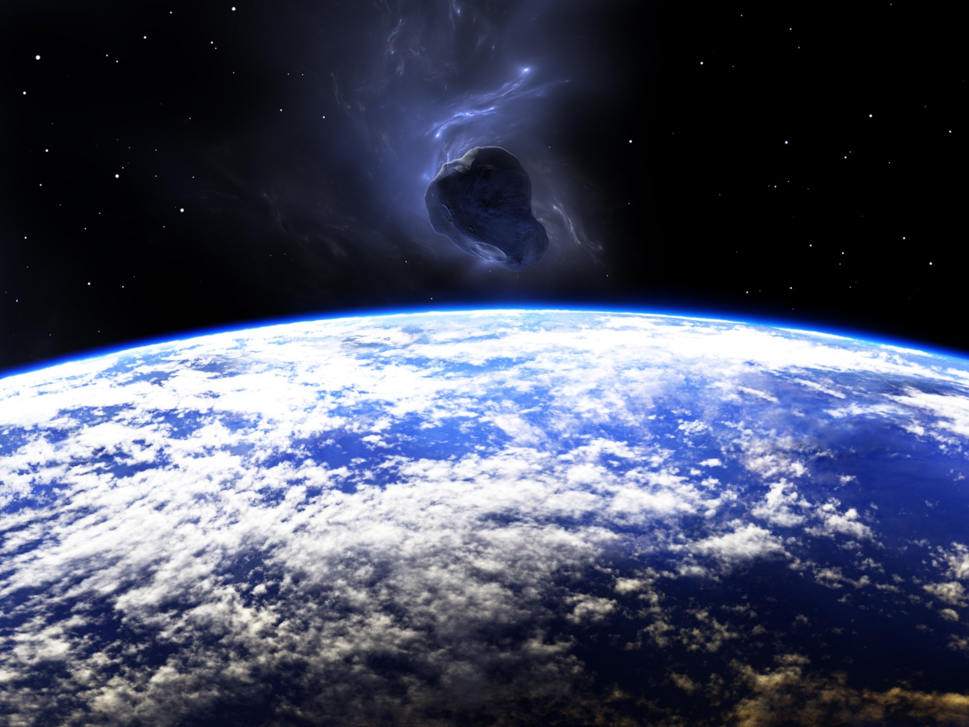Sci Fi - Asteroid   Asteroid Space Planetscape Wallpaper