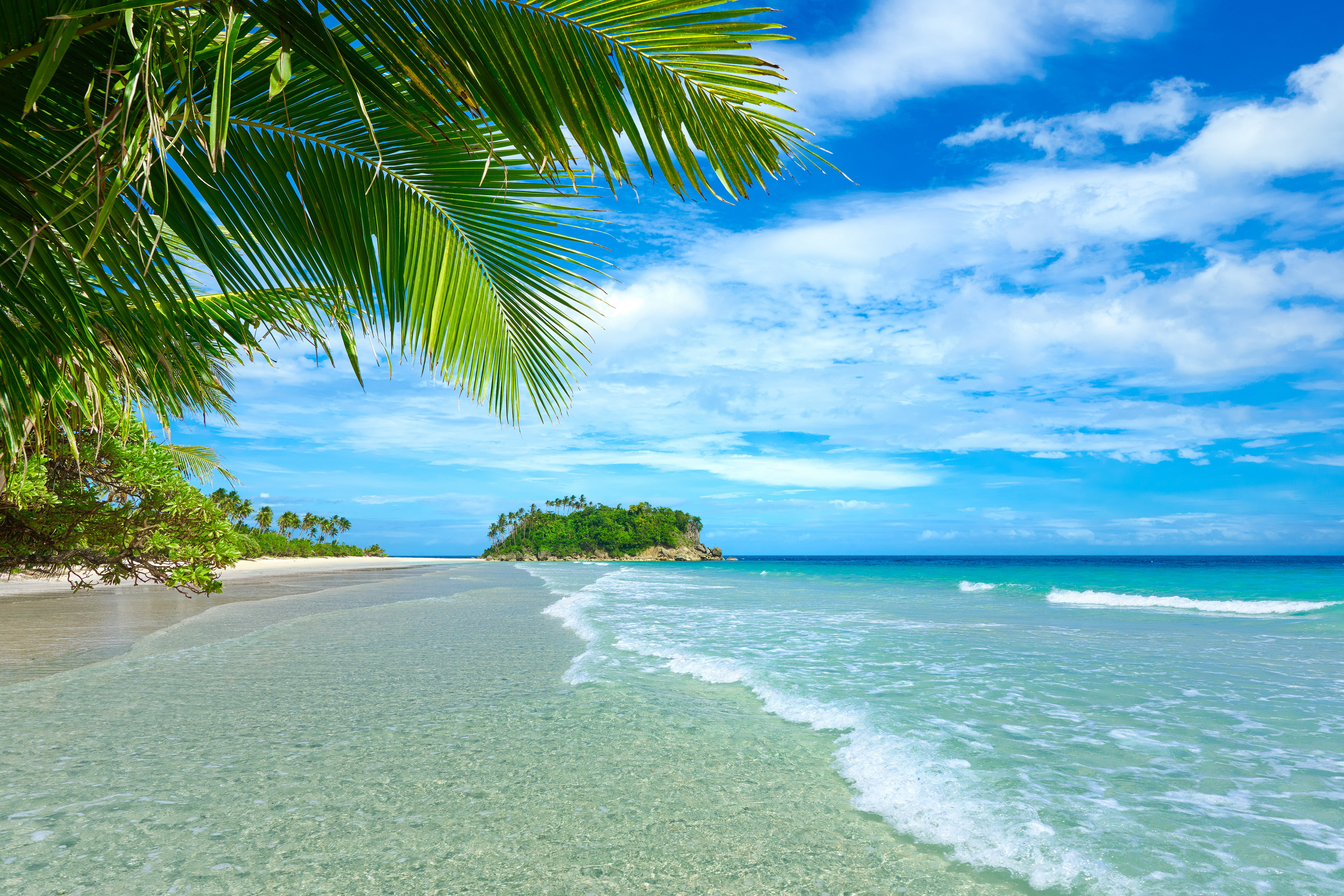Retina Wallpaper Beach Sea Hd Desktop Wallpapers: Tropical Beach 5k Retina Ultra HD Wallpaper