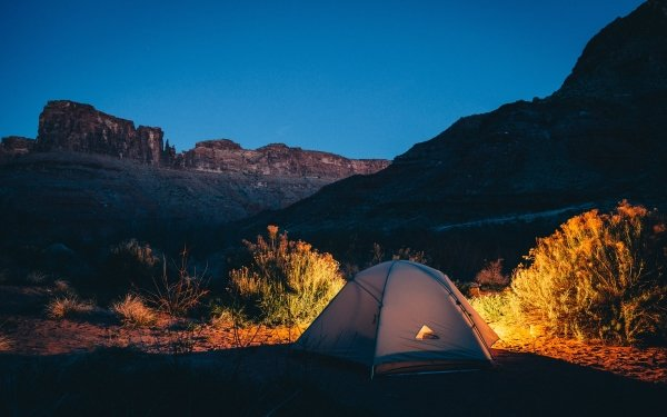 Photography Camping Tent Mountain Evening Light HD Wallpaper | Background Image