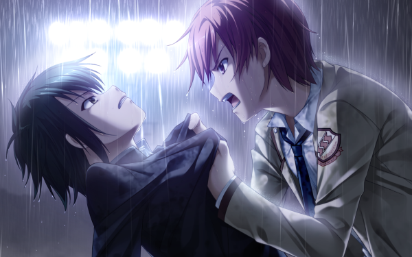 Anime Angel Beats! Ayato Naoi Yuzuru Otonashi HD Wallpaper | Background Image