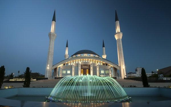 Religious Mosque Mosques Fountain HD Wallpaper | Background Image