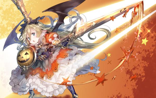 Anime Granblue Fantasy Charlotta Halloween HD Wallpaper | Background Image