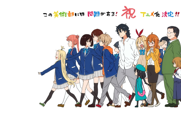 Anime This Art Club Has a Problem! Mizuki Usami Collette President Subaru Uchimaki Sayaka Honda Maria Imari Ryouko Kunigawa Moeka Yumeko Tachibana Kaori Ayase HD Wallpaper | Background Image