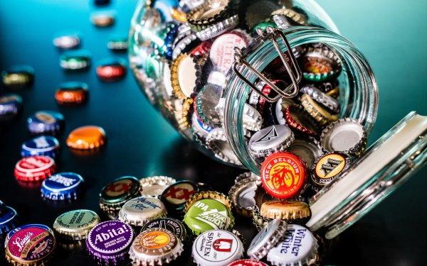 Misc Beer Bottle Caps Jar HD Wallpaper | Background Image