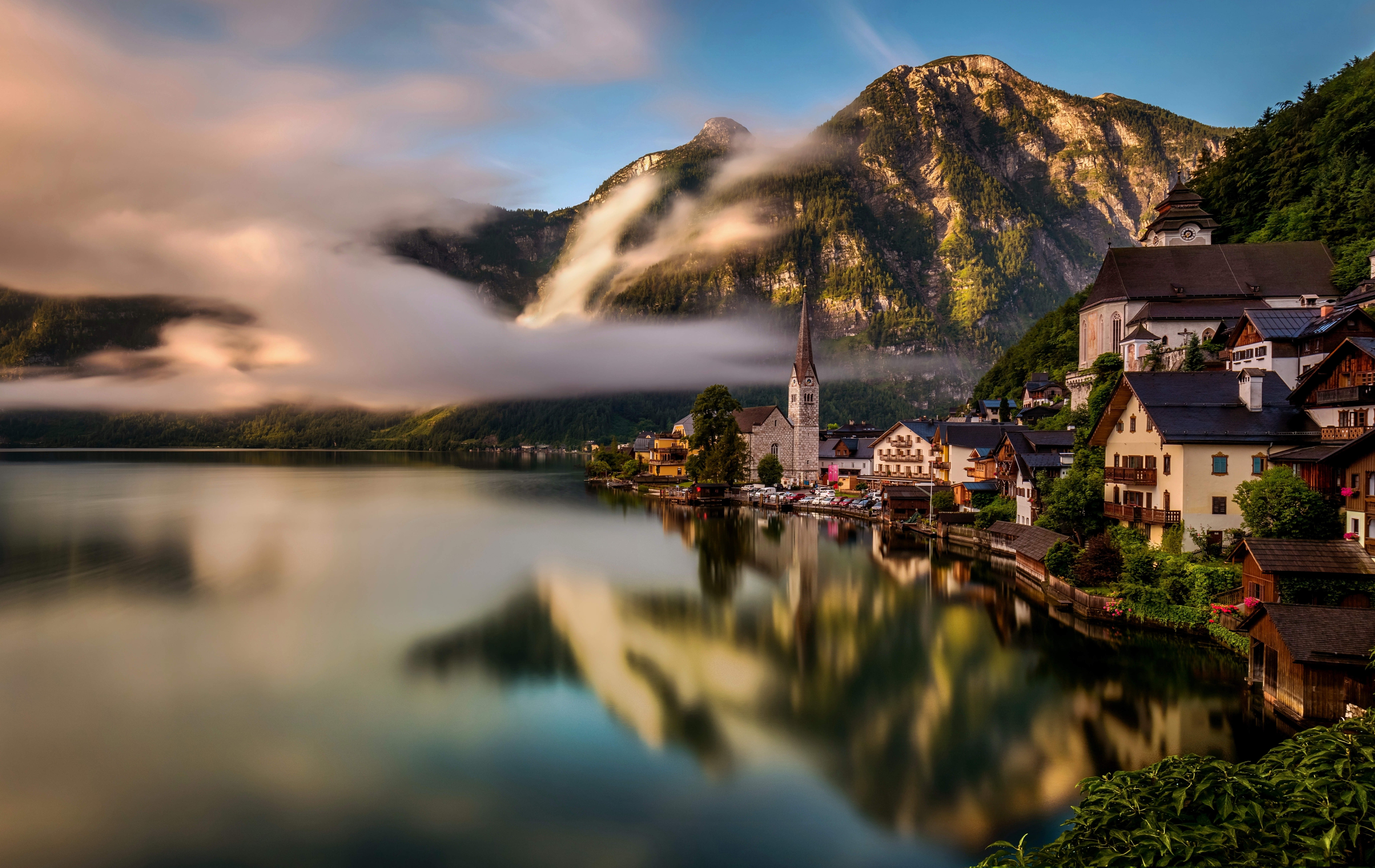 Haus am see wallpaper  Hallstatt 8k Ultra HD Wallpaper and Hintergrund | 8264x5217 | ID ...