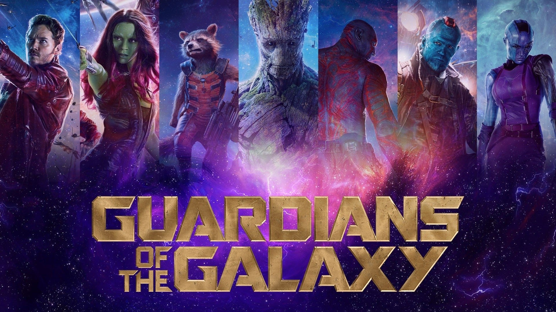 Movie - Guardians of the Galaxy  Star Lord Gamora Rocket Raccoon Groot Drax The Destroyer Yondu Udonta Nebula Wallpaper