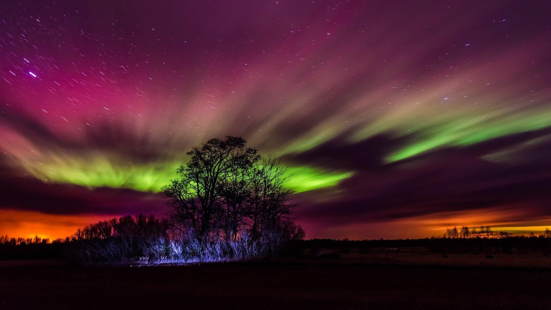 Aurora boreale hd wallpaper sfondi 1920x1080 id for Sfondi aurora boreale