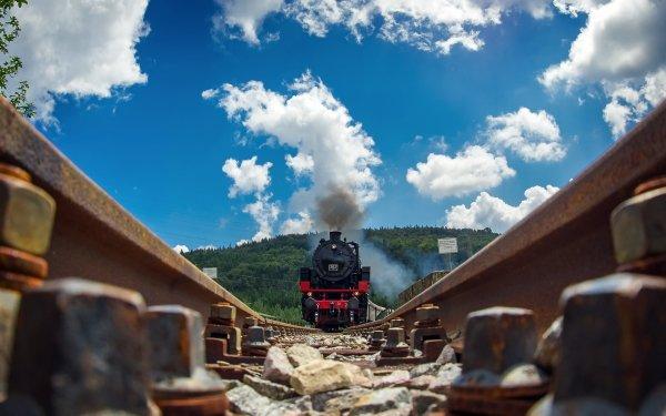 Vehicles Train Railroad Locomotive HD Wallpaper | Background Image