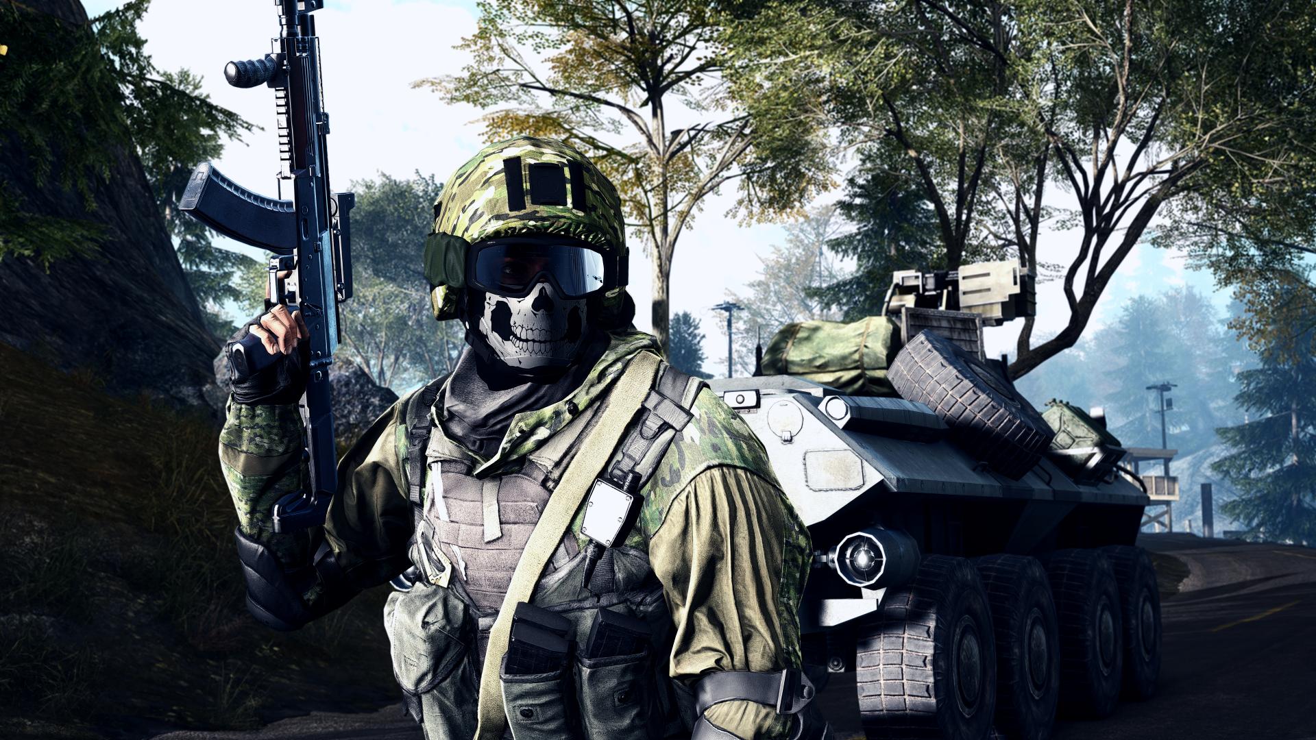 Cool Battlefield 4 Fire Armor In Black Background: Battlefield 4 8k Ultra HD Wallpaper