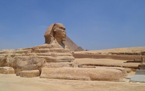 Man Made Sphinx Egypt Rock Statue Limestone HD Wallpaper | Background Image