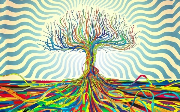 Artistic Tree Roots Colorful Colors HD Wallpaper | Background Image