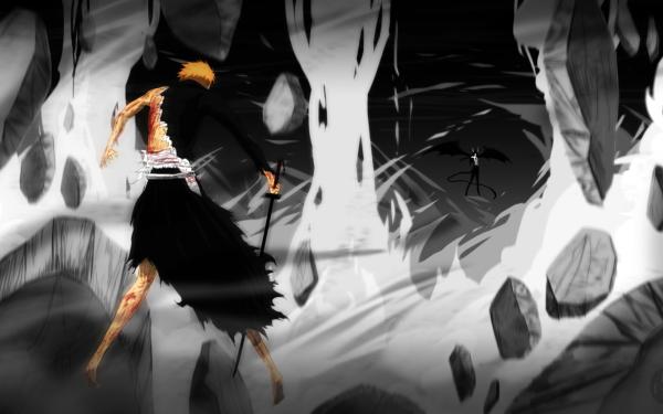 Anime Bleach Ichigo Kurosaki Ulquiorra Cifer HD Wallpaper   Background Image