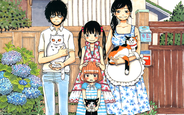 Anime March Comes in Like a Lion Akari Kawamoto Hinata Kawamoto Momo Kawamoto Rei Kiriyama Sangatsu no Lion HD Wallpaper | Background Image