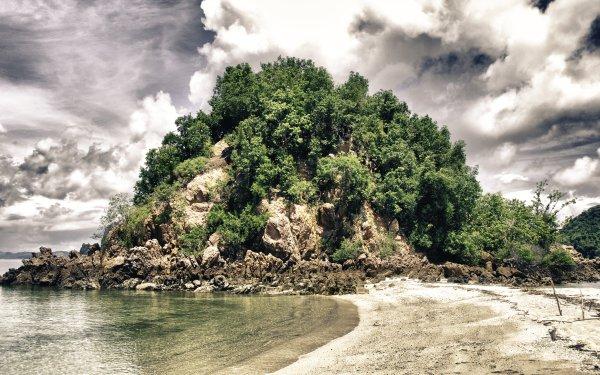 Earth Beach Thailand Coast Sand Cloud Tropics Nature HD Wallpaper | Background Image