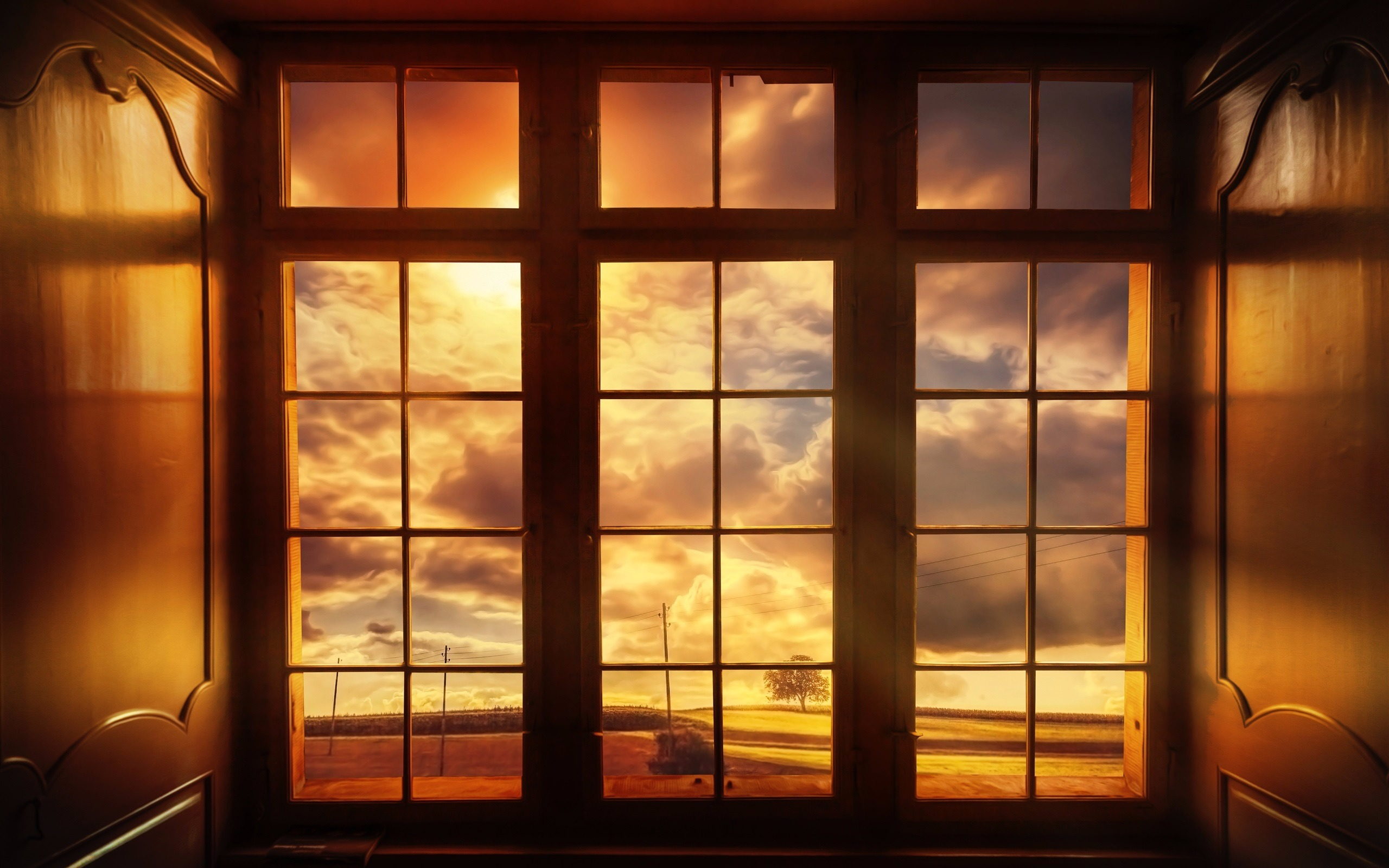 The World Outside Window Full HD Wallpaper And Background Image