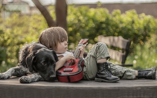 Photography Child Little Boy Dog Bokeh Boots HD Wallpaper | Background Image