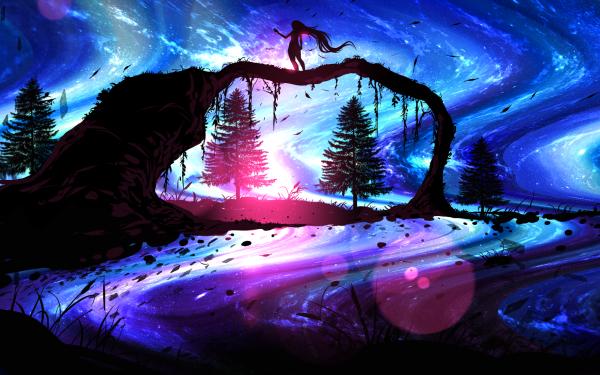 Anime Original Tree Artistic HD Wallpaper | Background Image
