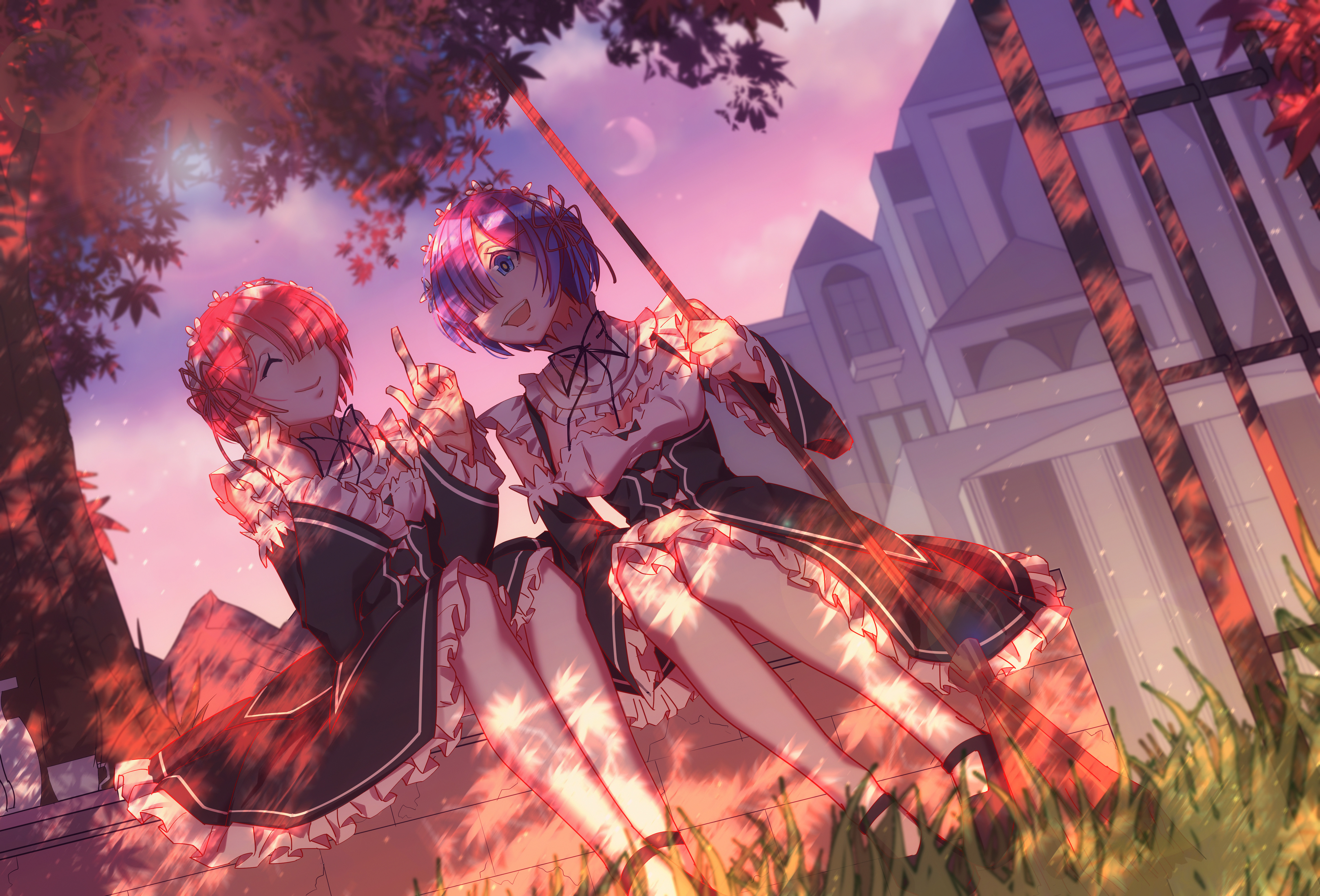 Re zero starting life in another world 5k retina ultra - Anime background wallpaper 4k ...