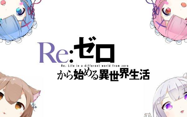 Anime Re:ZERO -Starting Life in Another World- Felix Argyle Emilia Rem Ram HD Wallpaper | Background Image
