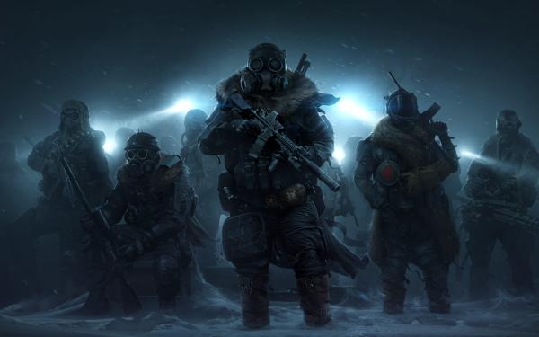 Video Game Wasteland 3 Gas Mask HD Wallpaper | Background Image