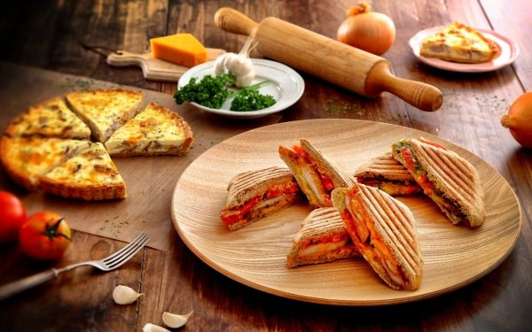 Food Still Life Sandwich Quiche HD Wallpaper | Background Image