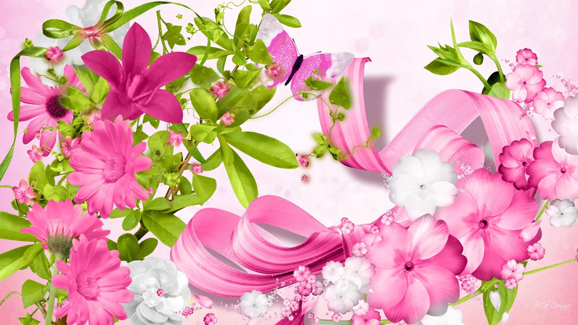 Pink Flowers Hd Wallpaper Background Image 1920x1080 Id745777