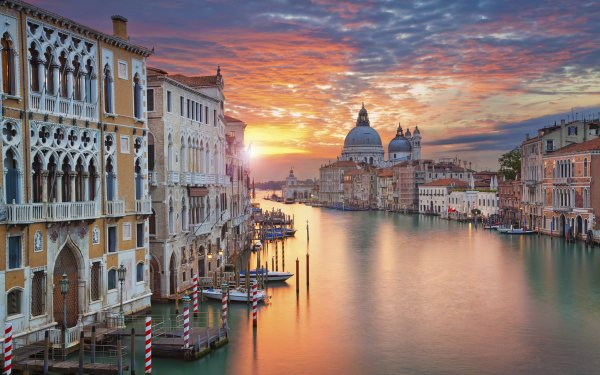 Man Made Venice Cities Italy Canal Grand Canal Building HD Wallpaper | Background Image