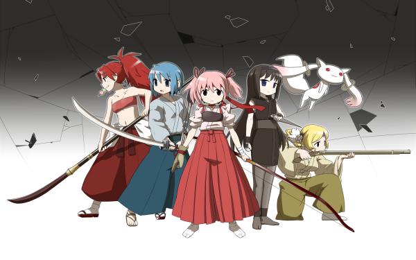 Anime Puella Magi Madoka Magica Madoka Kaname Homura Akemi Mami Tomoe Sayaka Miki Kyōko Sakura Kyuubey HD Wallpaper | Background Image