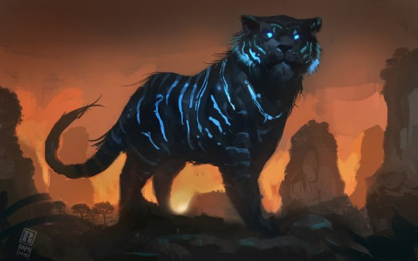 Fantaisie Tigre Animaux Fantastique Big Cat predator Fond d'écran HD | Image