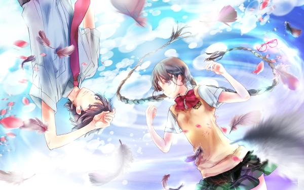 Anime Red Data Girl HD Wallpaper   Background Image