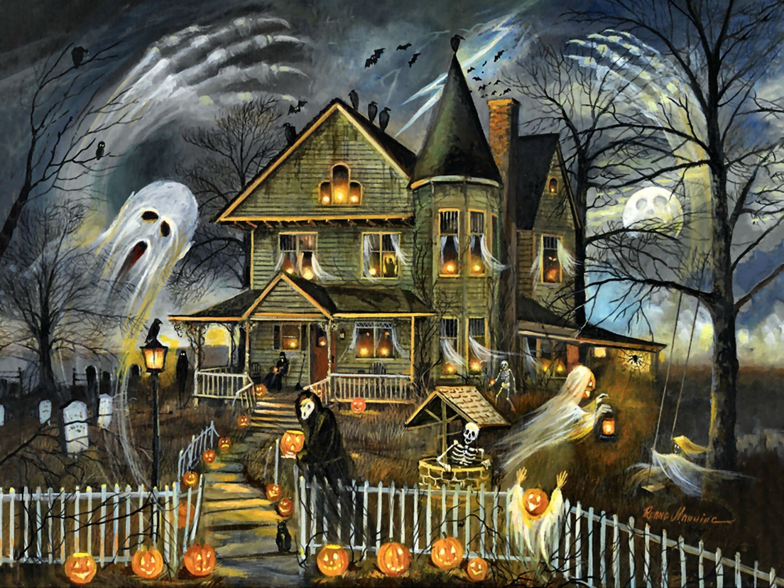 Halloween Wallpaper and Background Image | 1600x1200 ...