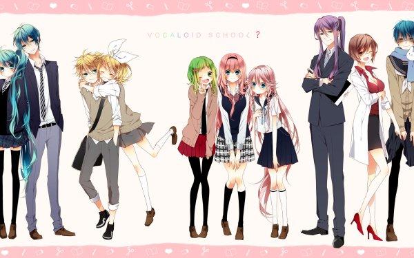 Anime Vocaloid Hatsune Miku Hatsune Mikuo Rin Kagamine Len Kagamine GUMI Luka Megurine Kaito Meiko Kamui Gakupo IA HD Wallpaper | Background Image