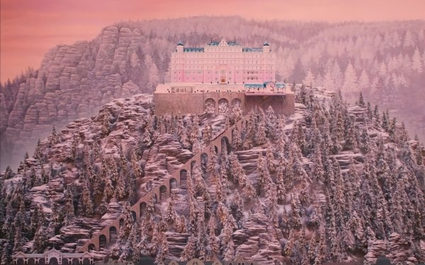 Movie The Grand Budapest Hotel Hotel Hilltop Sunset HD Wallpaper | Background Image