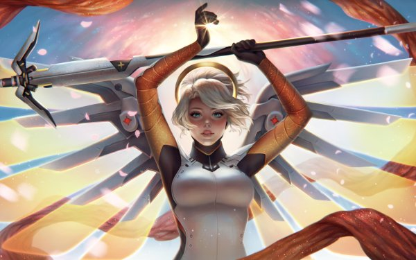 Video Game Overwatch Mercy HD Wallpaper | Background Image