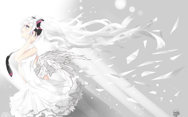 Anime Vocaloid Hatsune Miku White HD Wallpaper | Background Image