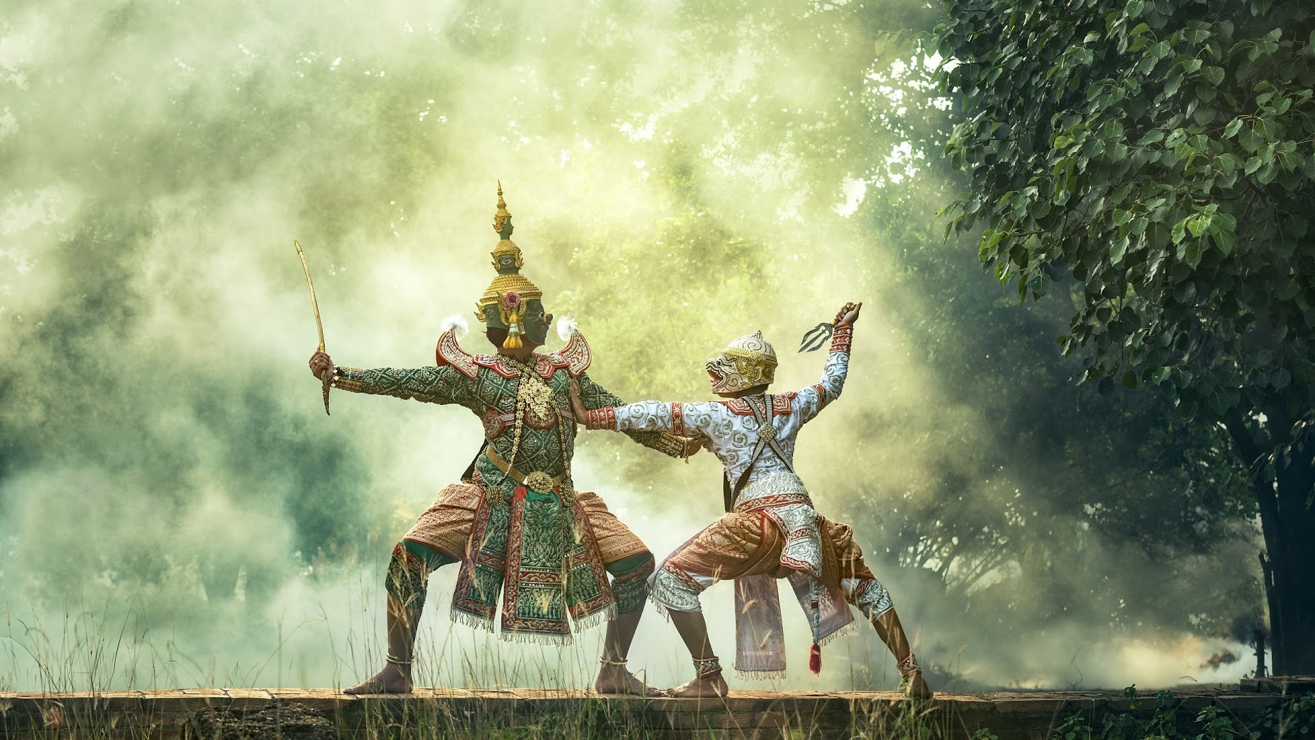 The Khon Is A Traditional Masked Dance Hd Wallpaper Background Image 1920x1080 Id 766589 Wallpaper Abyss